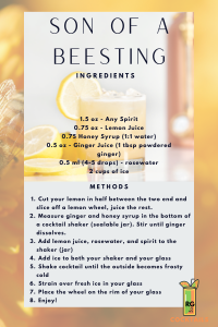 Son of a Bee Sting Drink Recipe Card